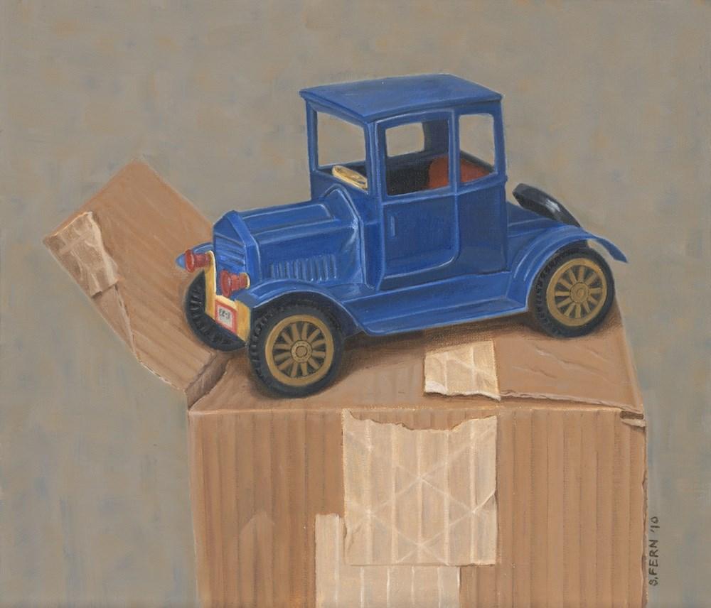 """""""Boxcar"""" original fine art by Susan Fern"""