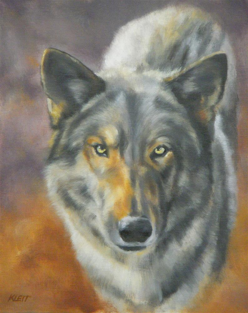 """Wolf Dog"" original fine art by Tracy Klett"