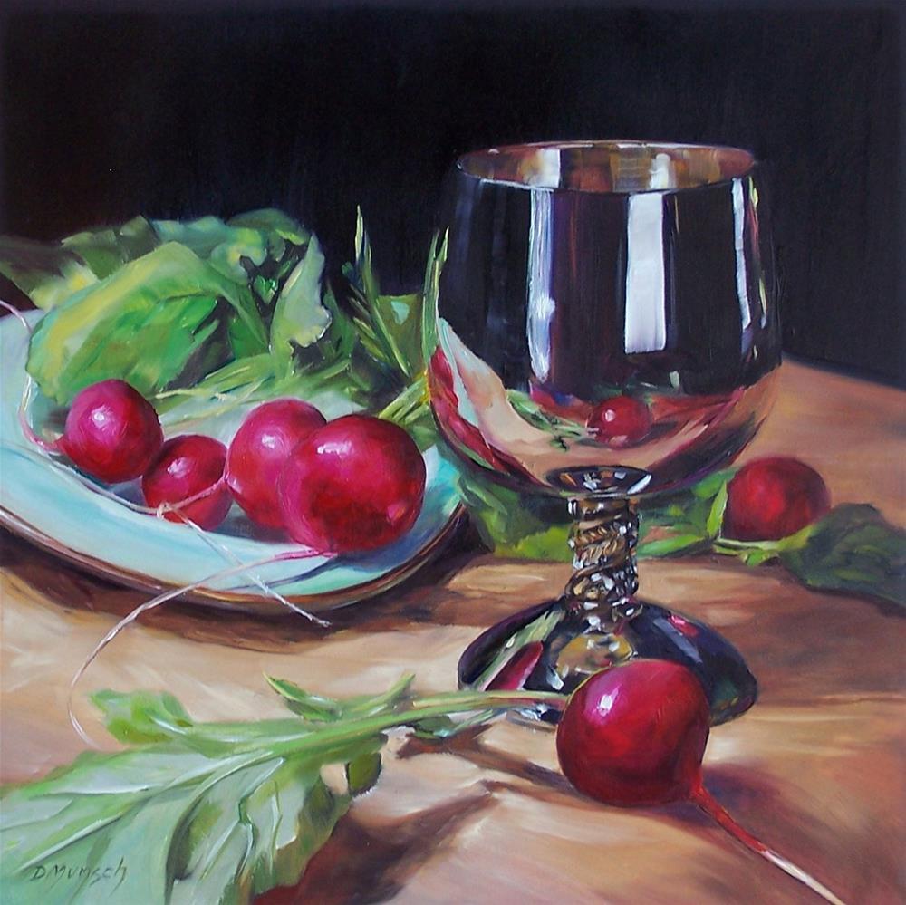"""""""Silver Radishes"""" original fine art by Donna Munsch"""