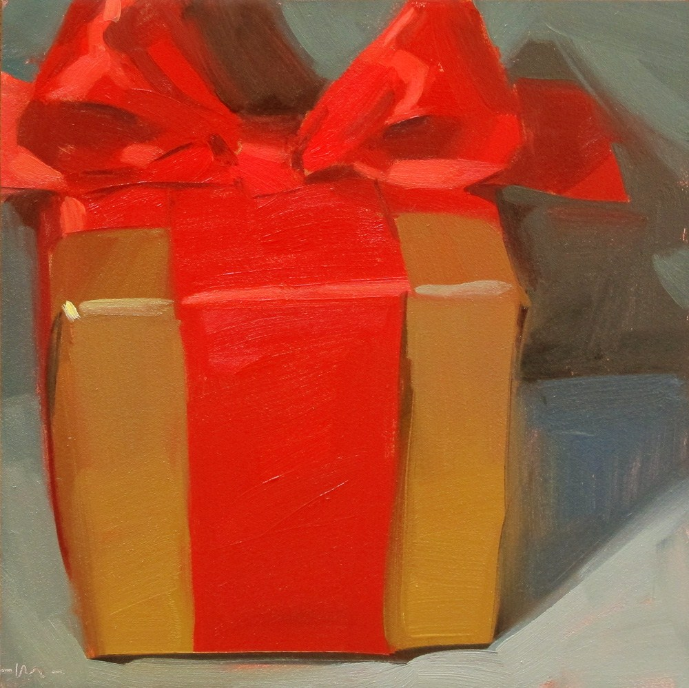 """Too Early for Christmas"" original fine art by Carol Marine"