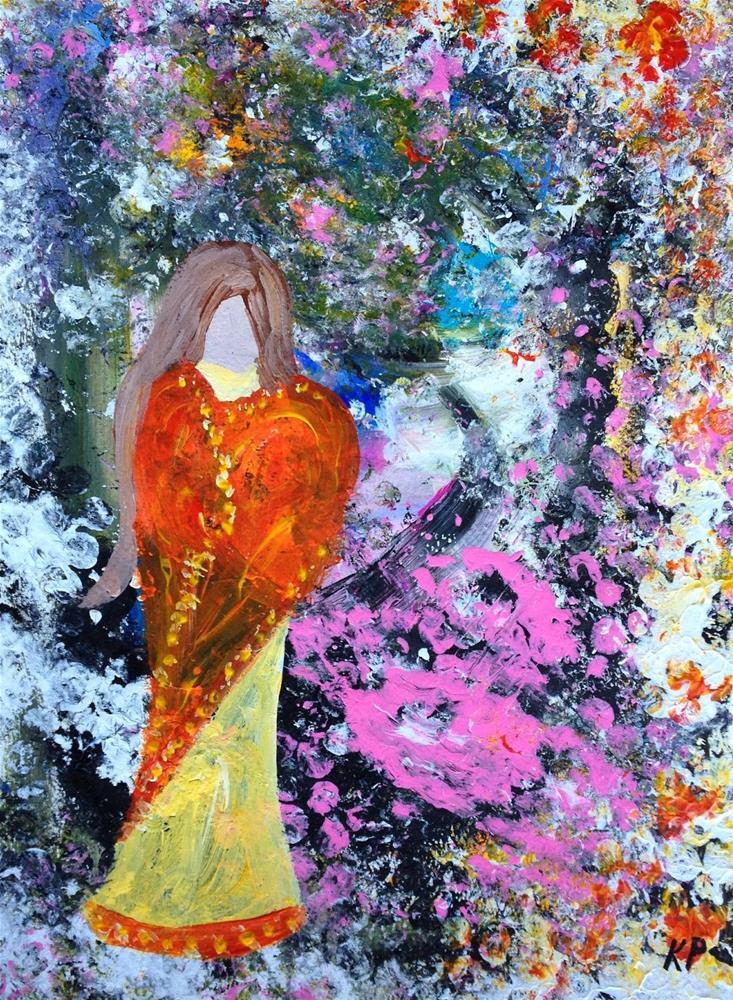 """Love Sari"" original fine art by Kali Parsons"