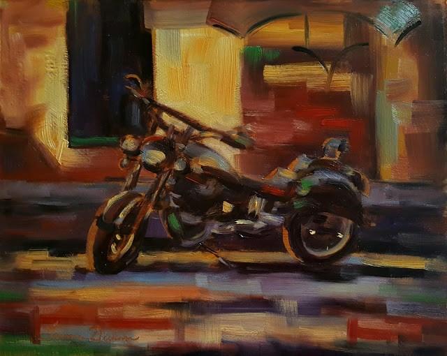 """""""Sergio's Ride"""" original fine art by Tammie Dickerson"""