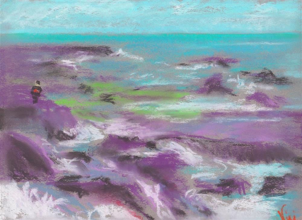 """Keep Off the Rocks"" original fine art by Niki Hilsabeck"