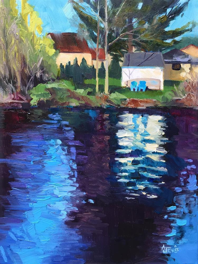 """Lake Living"" original fine art by Andrea Jeris"