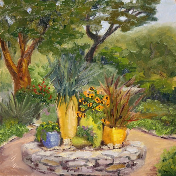 """Fragrant Garden"" original fine art by Jane Frederick"