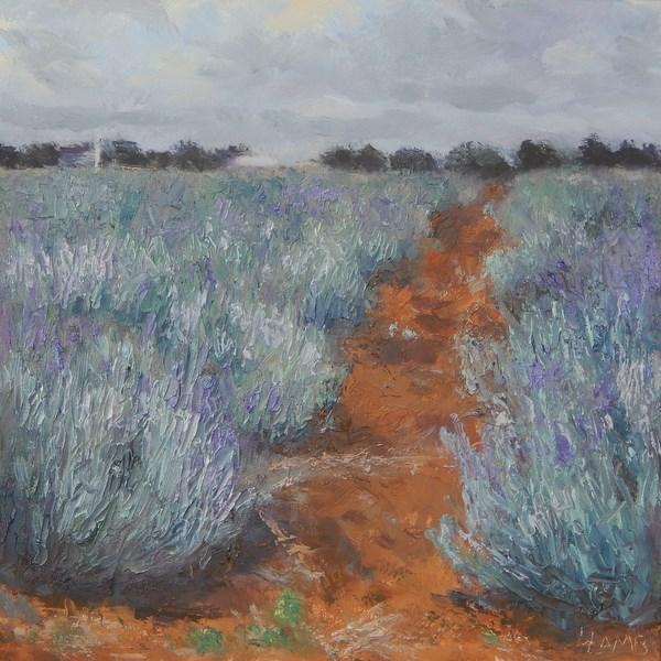 """Lavender Pathway"" original fine art by Lori L. Lamb"