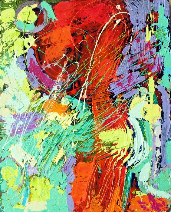 """The Dance, Textured Abstract 12071"" original fine art by Nancy Standlee"