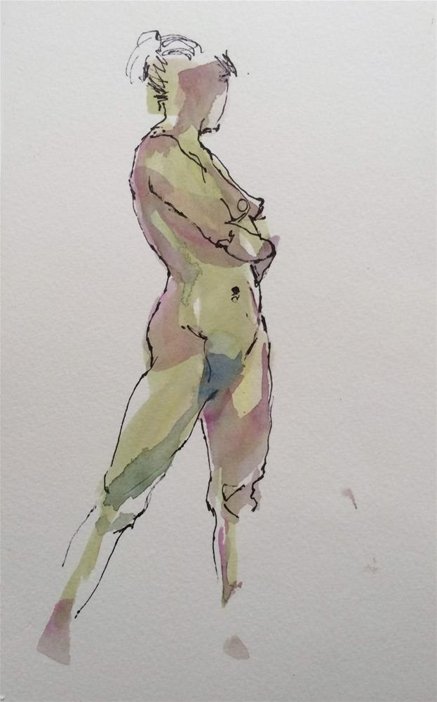 """Life Drawing 6"" original fine art by Nicoletta Baumeister"