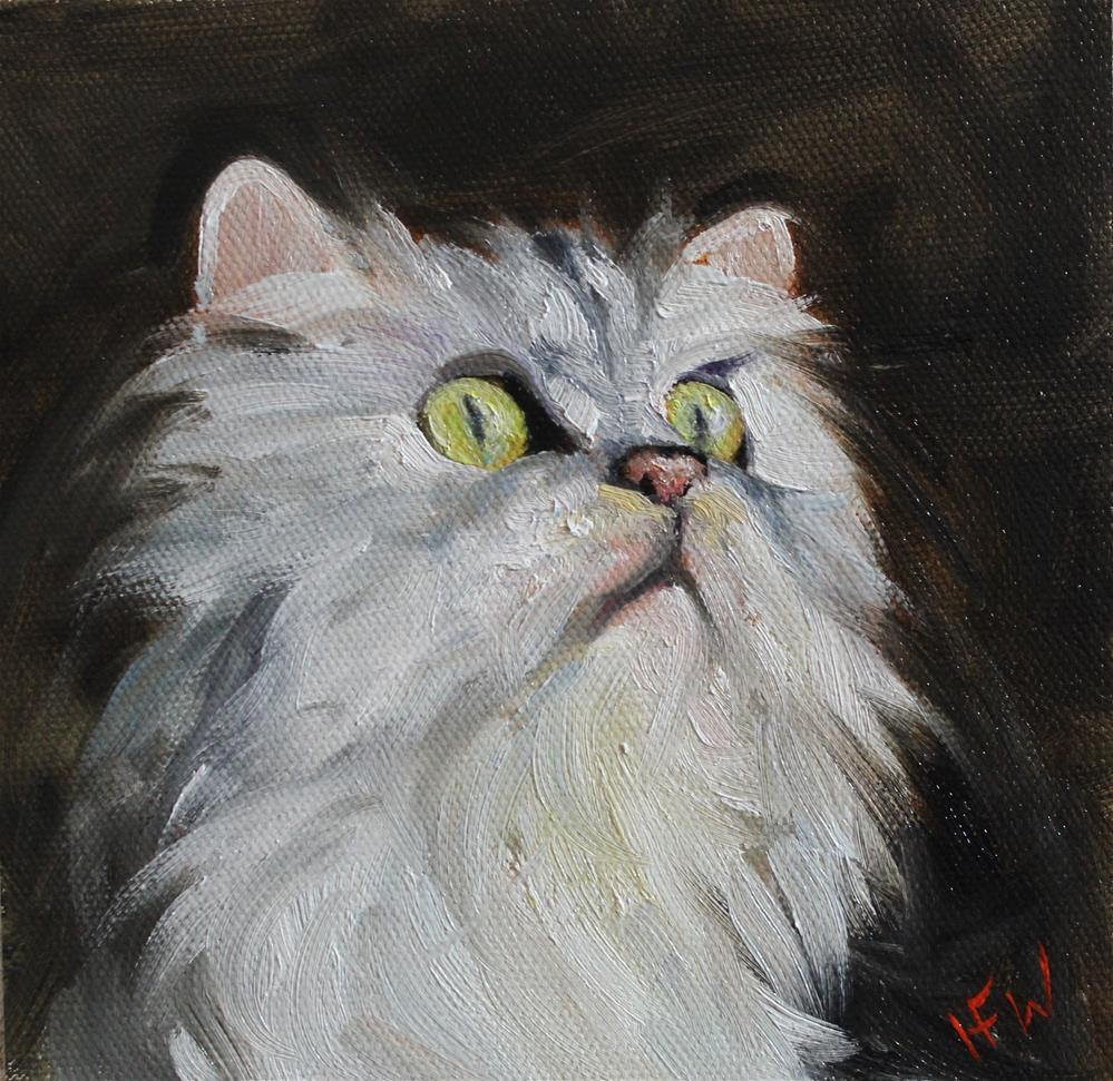 """Persian Kitty"" original fine art by H.F. Wallen"