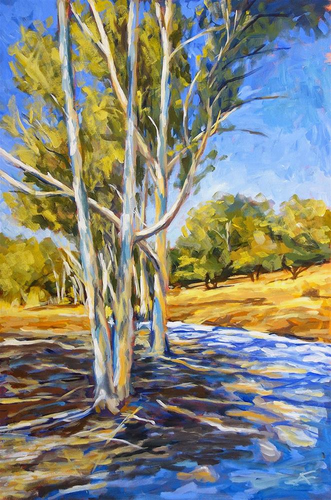 """Eucalyptus Stand"" original fine art by J. Farnsworth"