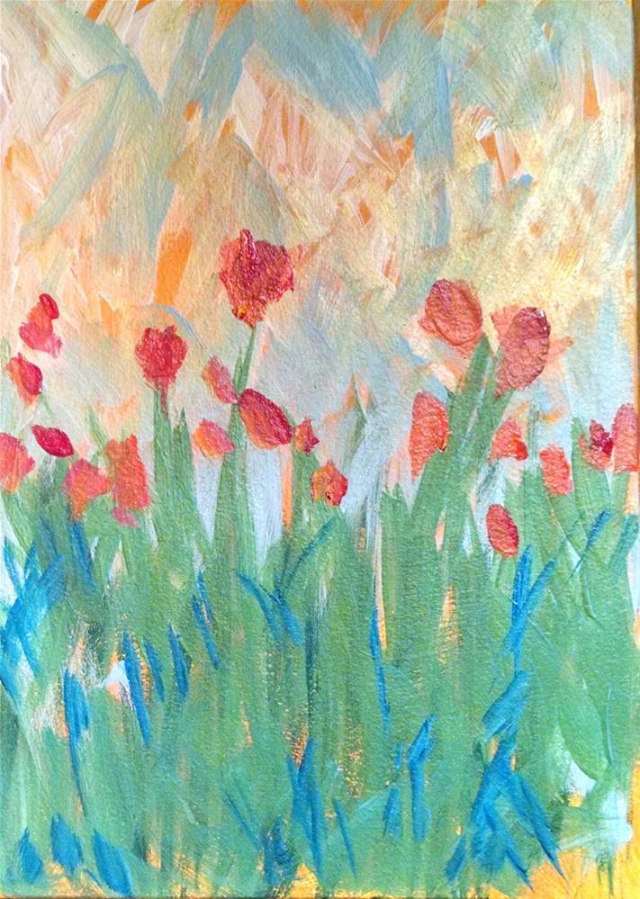 """Spring Blooms"" original fine art by Kathy Fleming"
