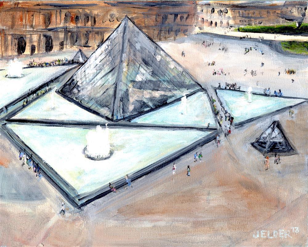 """Louvre No. 6"" original fine art by Judith Elder"