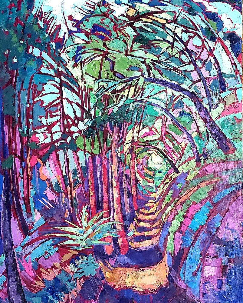 """Tunnel of Trees"" original fine art by Bhavna Misra"