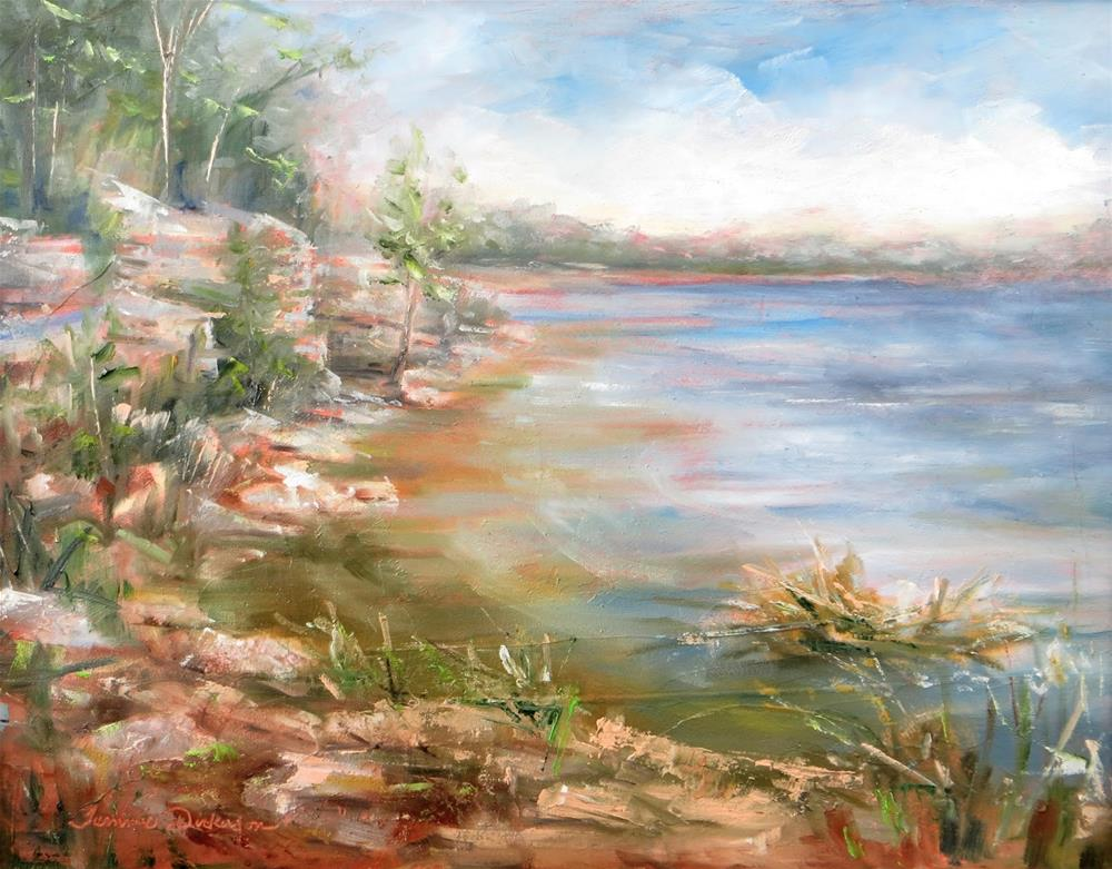 """""""Secluded Beach at Bailey's Harbor"""" original fine art by Tammie Dickerson"""