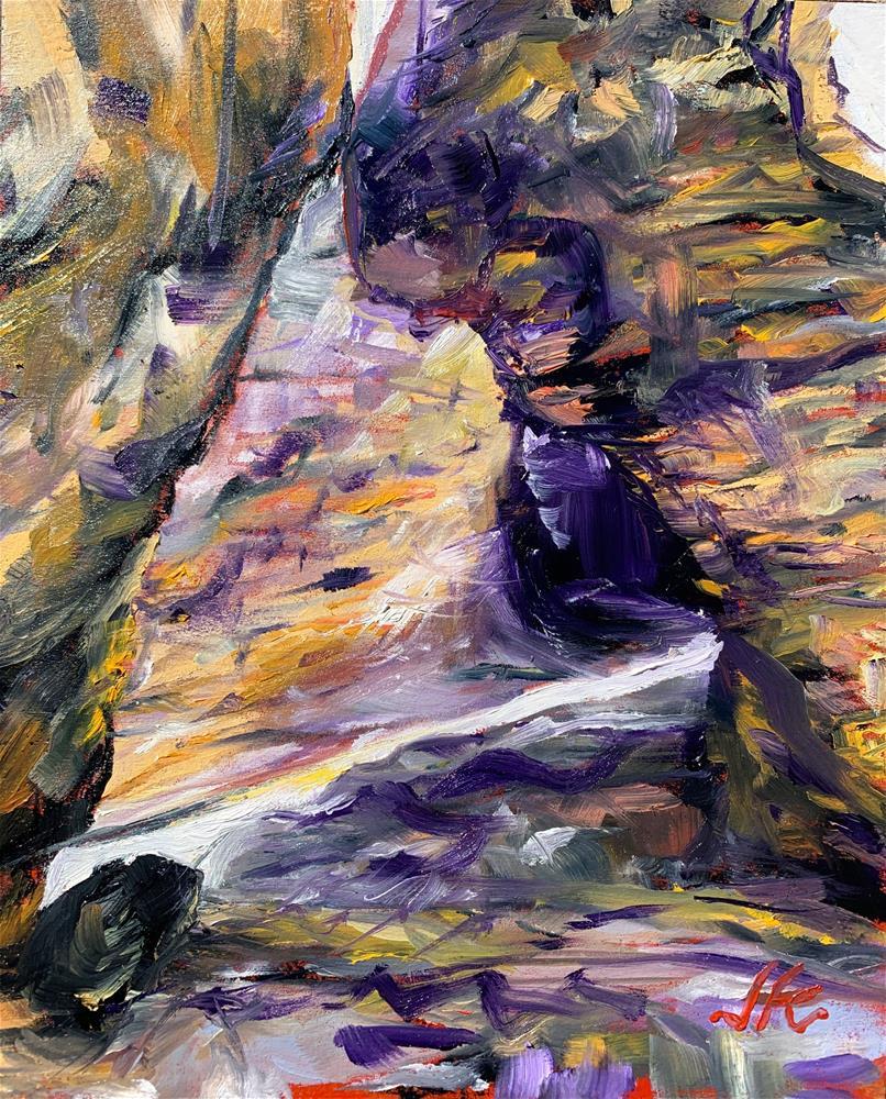 """Slivers of Light"" original fine art by Jean Krueger"