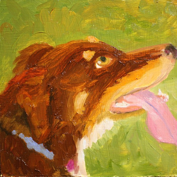 """Holly"" original fine art by Jane Frederick"