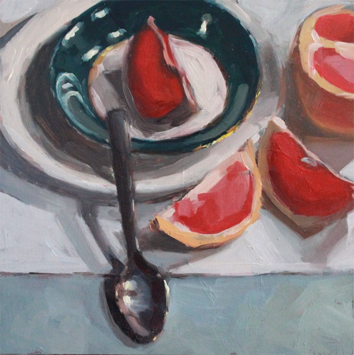 """""""Grapefruit Slices"""" original fine art by Nealy May Riley"""