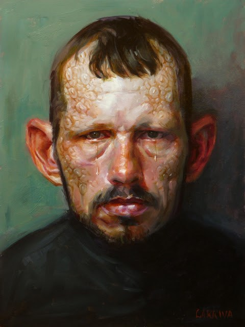 """Villain"" original fine art by John Larriva"