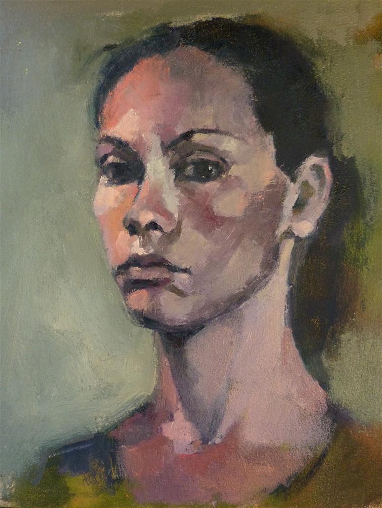 """Self-portrait#7"" original fine art by Katya Minkina"