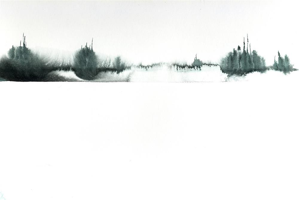 """""""Winter Zen"""" original fine art by Tonya Doughty"""