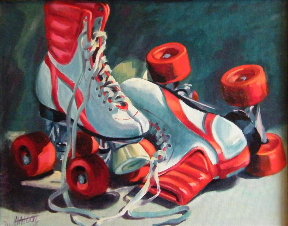 """Red Wheels"" original fine art by Donna Whatcott Parsons"