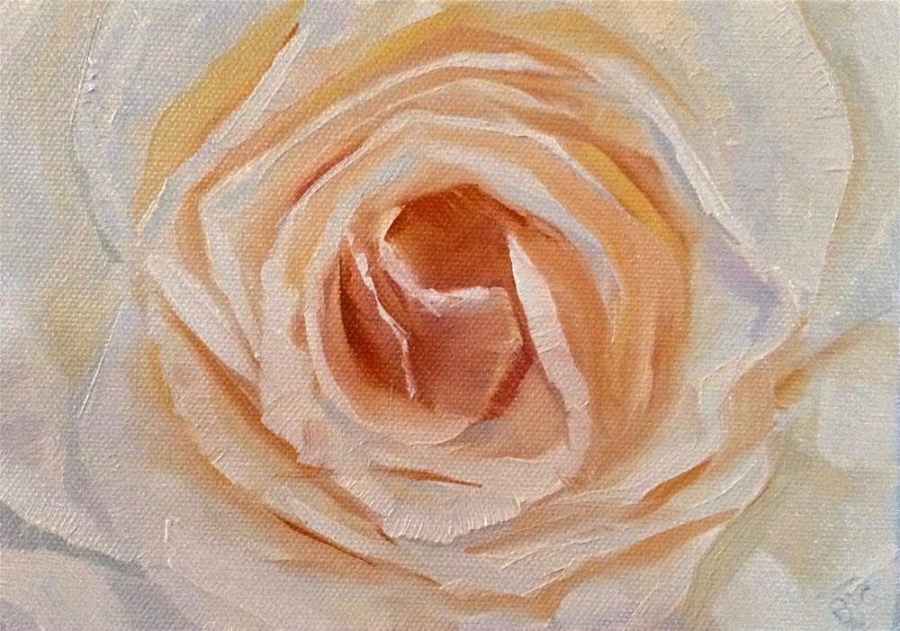 """Peaches and Cream"" original fine art by Bobbie Cook"
