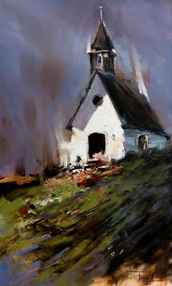 """the illuminated chapel"" original fine art by Christa Friedl"