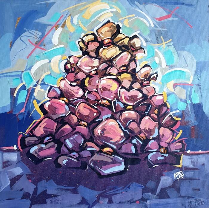 """Flower Exploration 44"" original fine art by Roger Akesson"