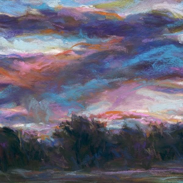 """A DREAMY MORNING - 6 x 6 landscape pastel by Susan Roden"" original fine art by Susan Roden"
