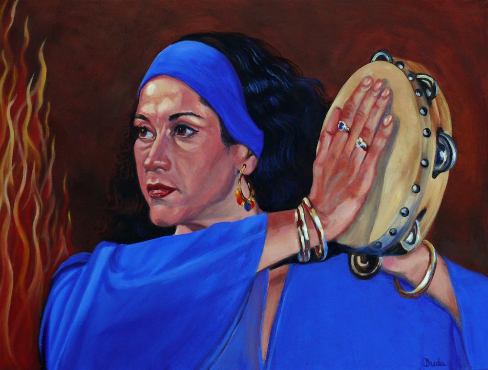 """""""Gypsy Bonfire"""" original fine art by Susan Duda"""