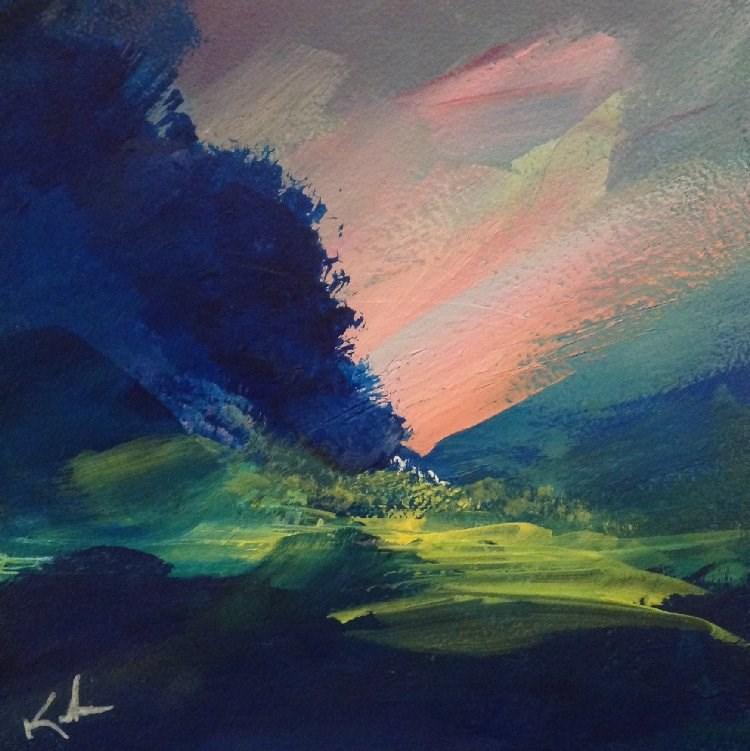"""To See Unfold"" original fine art by David Kuhn"