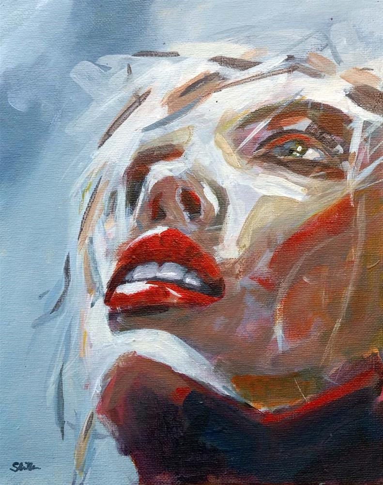 """""""1110 Funky Summer Girl"""" original fine art by Dietmar Stiller"""