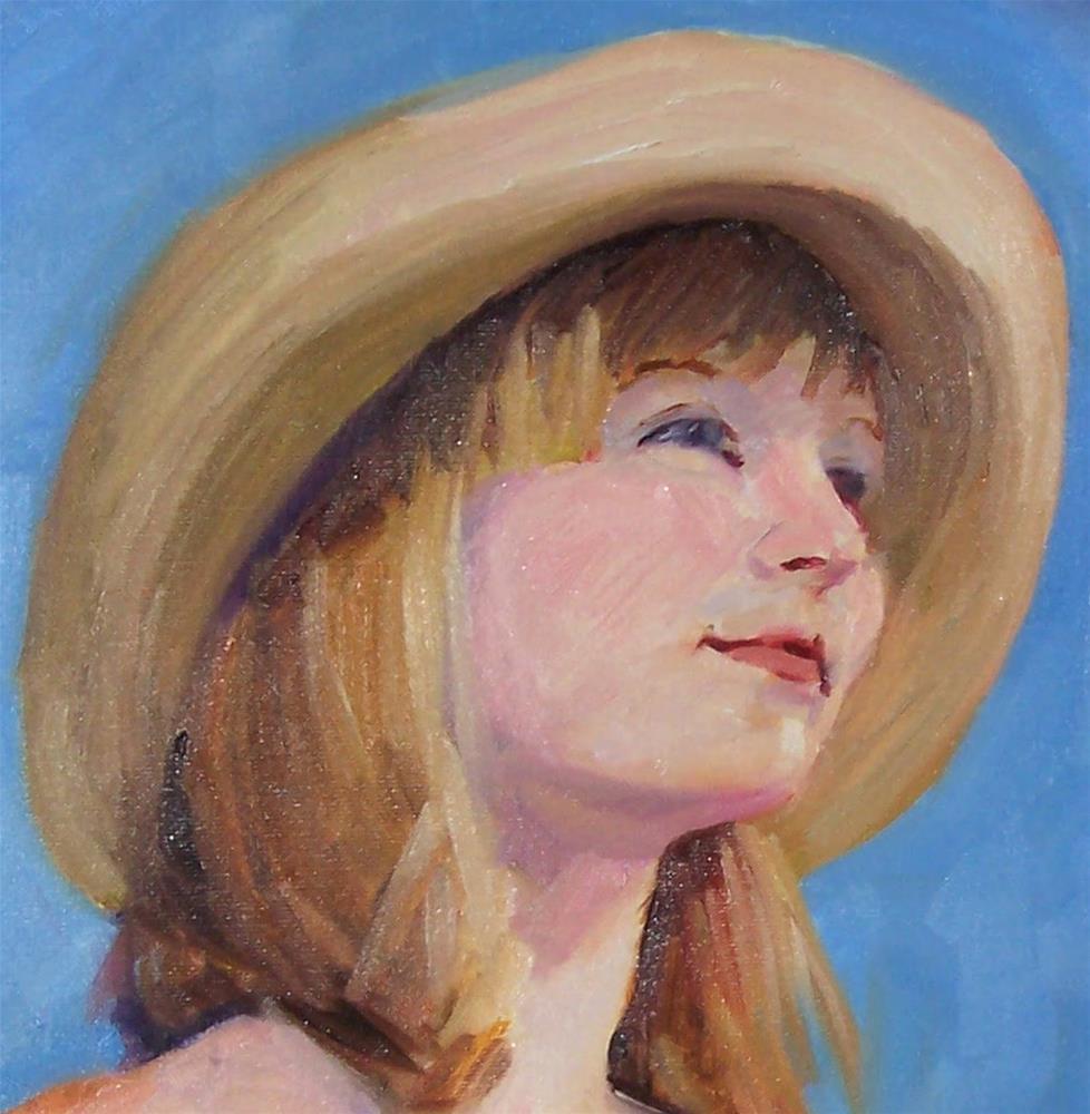 """""""Beauty Spot,portrait,oil on canvas,17x12,priceNFS"""" original fine art by Joy Olney"""