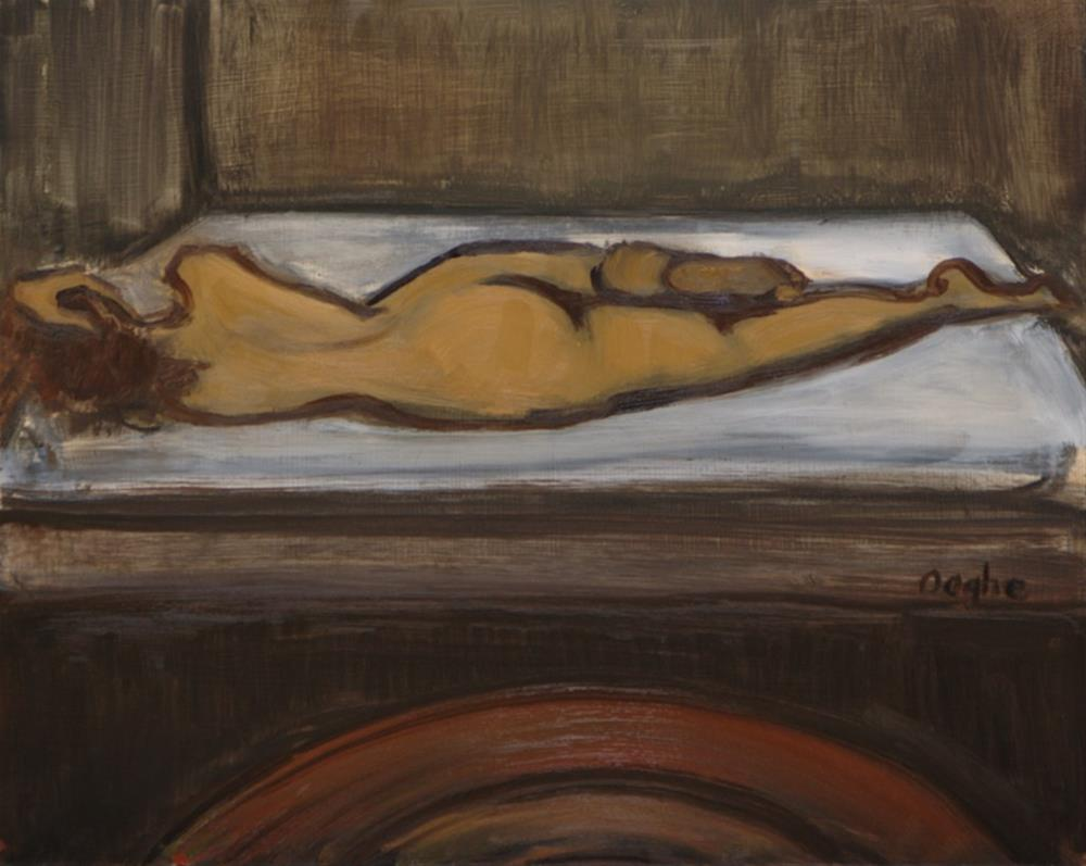 """""""Naked in Bed"""" original fine art by Angela Ooghe"""