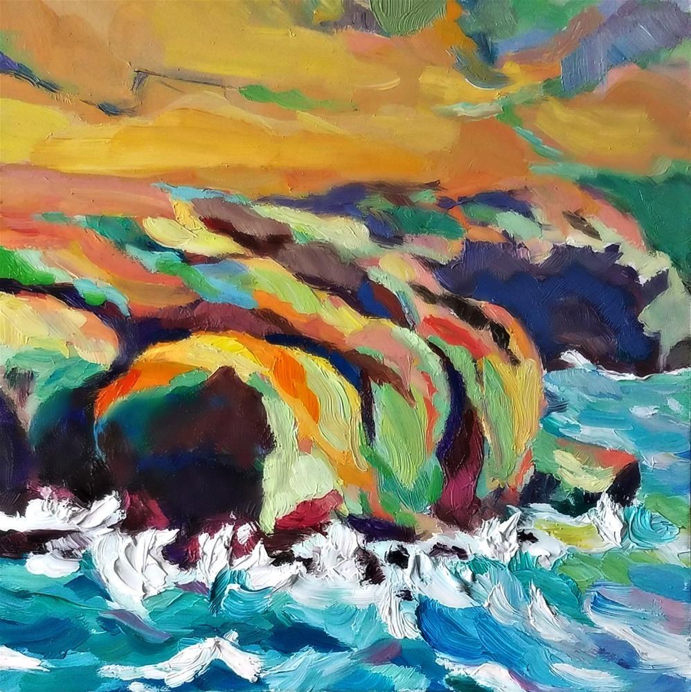 """""""Color-full Sea & Land-scape"""" original fine art by Dana C"""