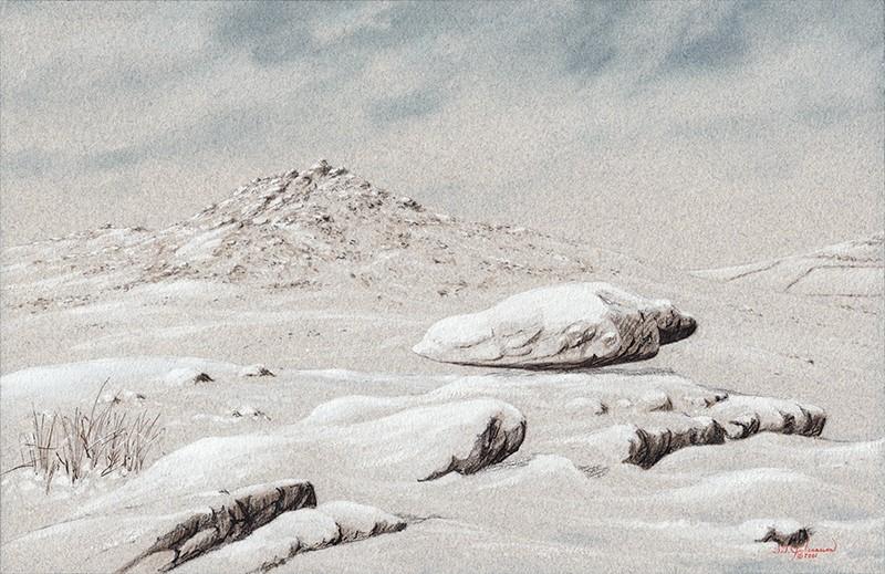 """""Bodmin Moor ... Snow"" (Cornwall, England)"" original fine art by Steven Thor Johanneson"