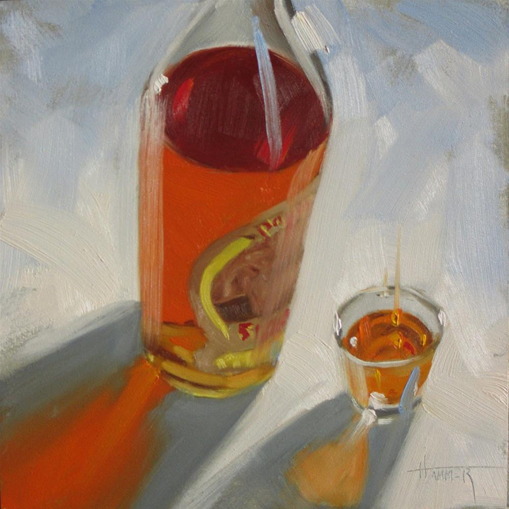 """""""Pappy Straight  6in x 6in  oil"""" original fine art by Claudia Hammer"""