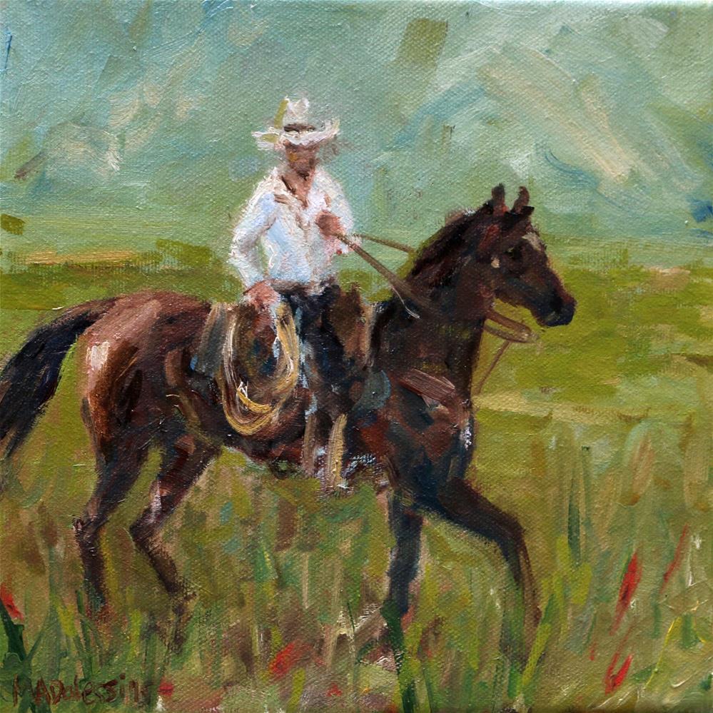"""""""Gettin' the cows"""" original fine art by Miranda Dalessi"""
