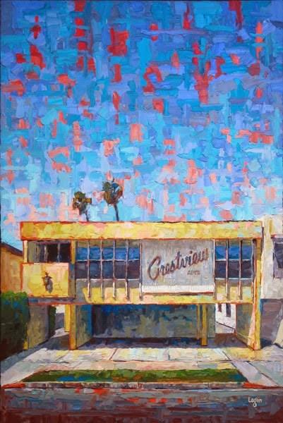 """The Crestview Apts"" original fine art by Raymond Logan"