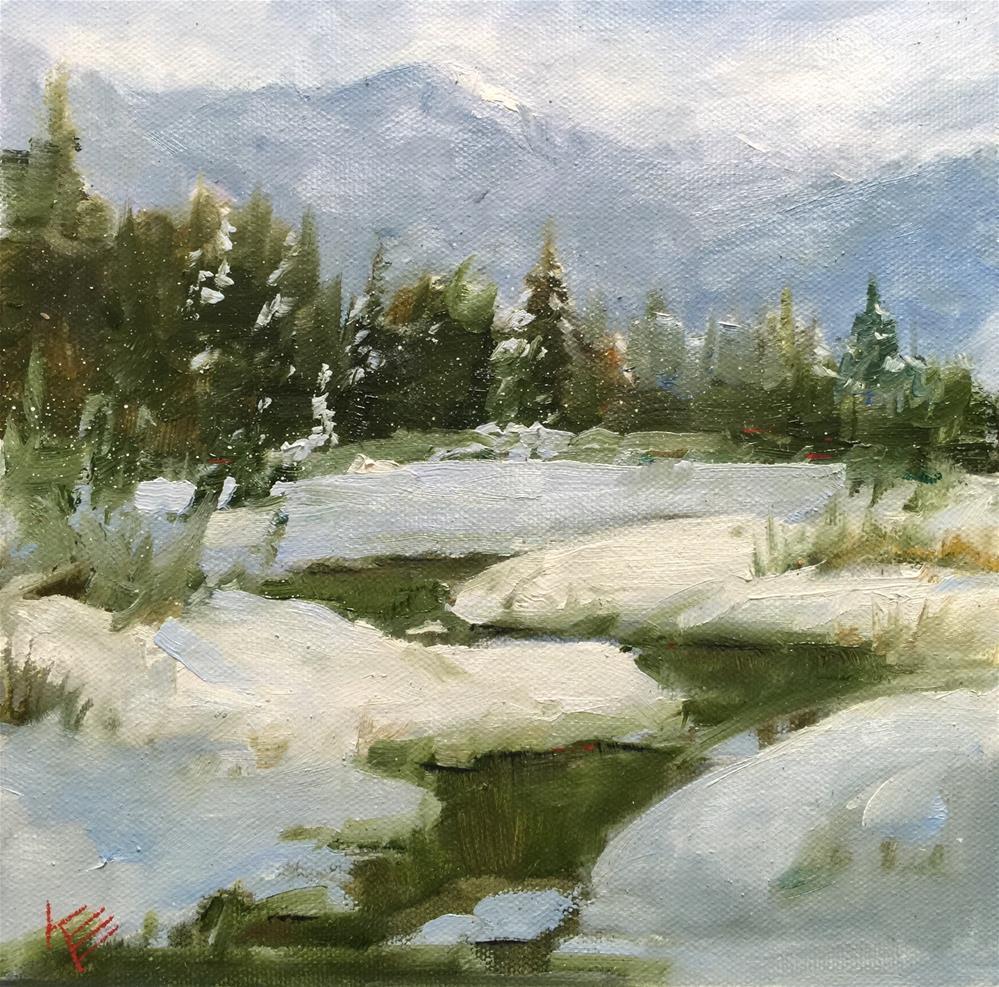 """Majestic. Winter"" original fine art by Krista Eaton"