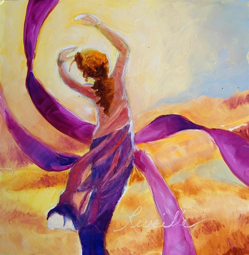 """""""Wrap Me In Ribbons of LOve, God"""" original fine art by Reveille Kennedy"""