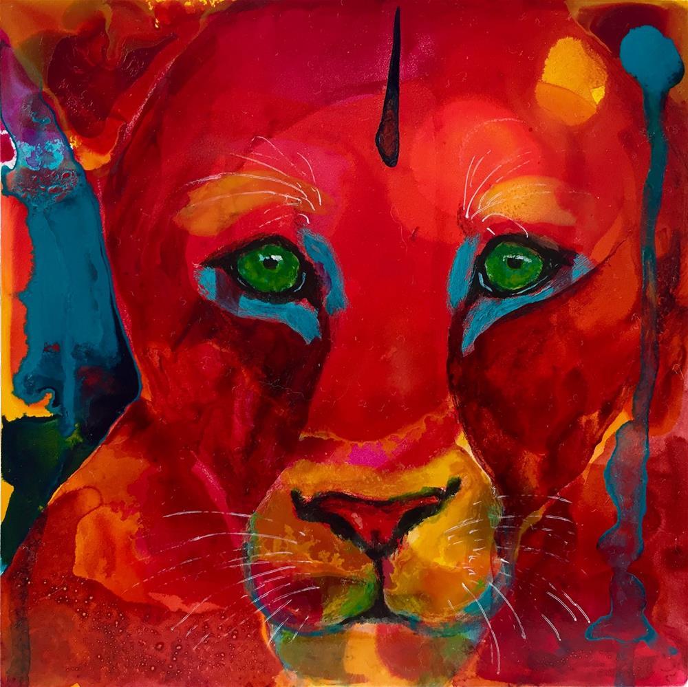 """""""#16 Fearless"""" original fine art by Silke Powers"""