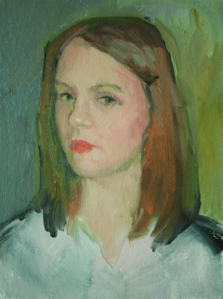 """Girl in White Dress - NFS"" original fine art by Kathryn Townsend"
