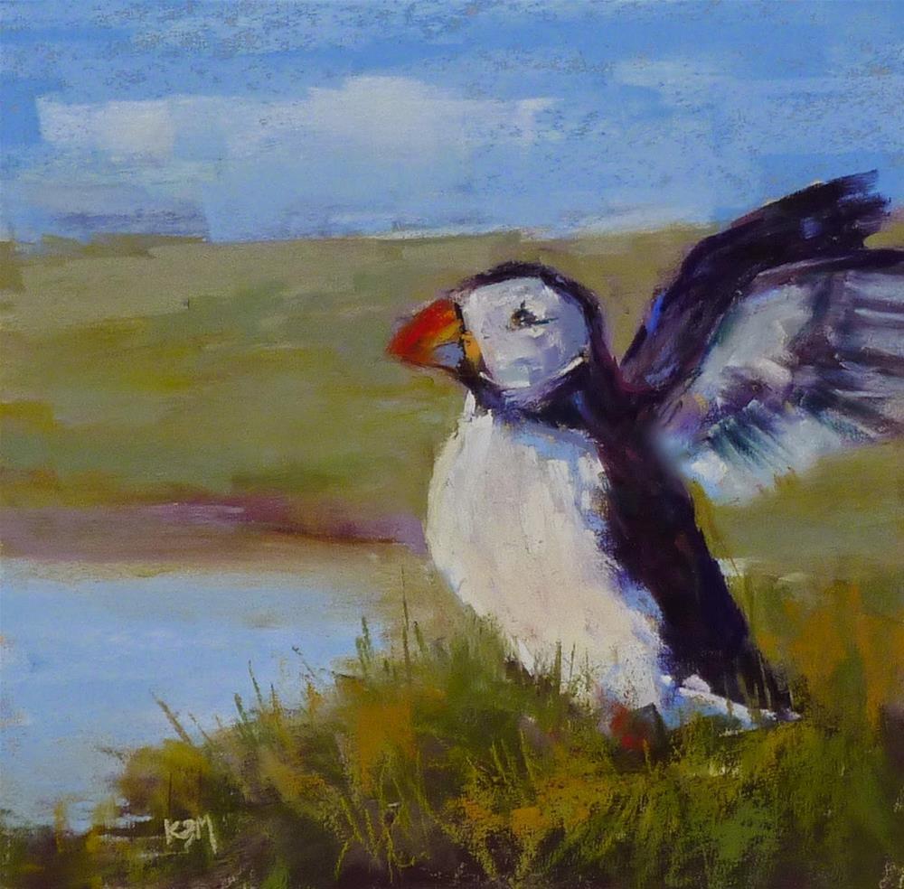 """Painting Iceland!"" original fine art by Karen Margulis"