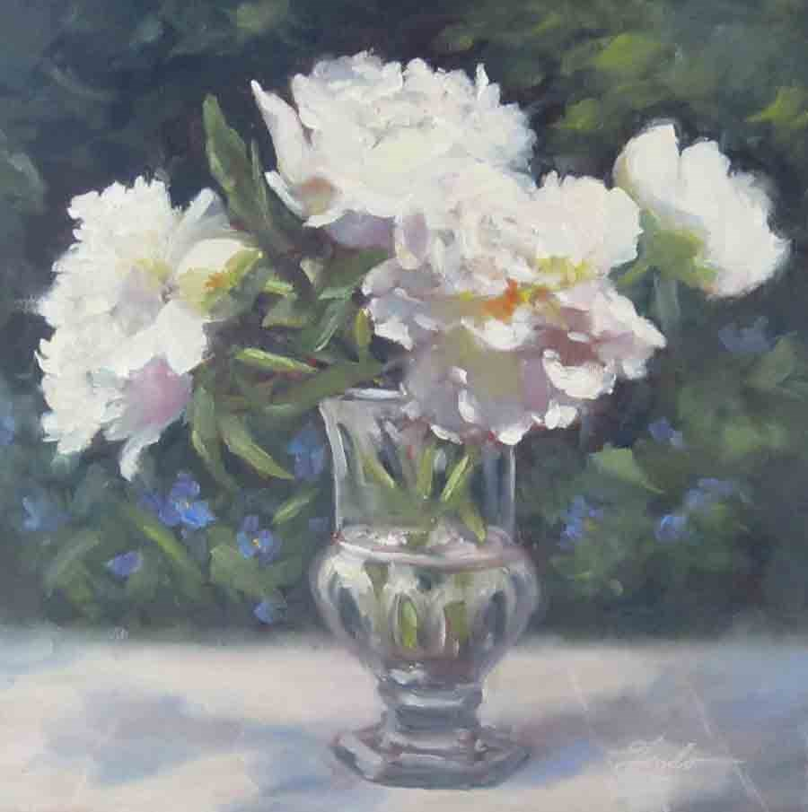 """Garden Delight"" original fine art by Pat Fiorello"