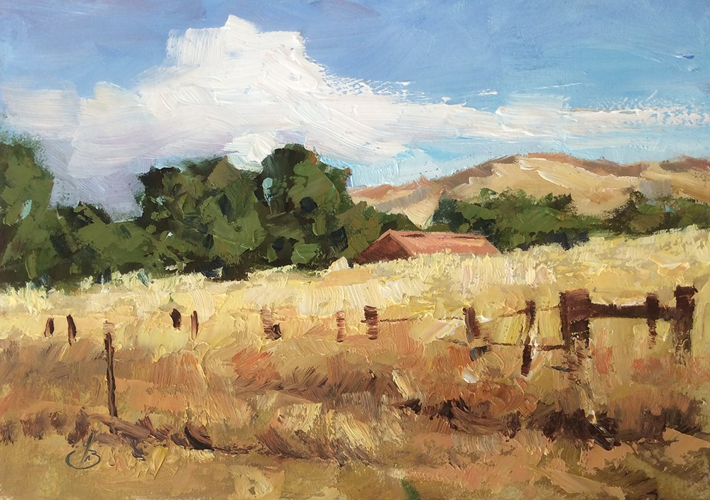 """""""A BEAUTIFUL DAY OUTDOORS"""" original fine art by Tom Brown"""