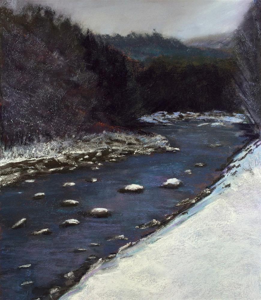 """River Bend"" original fine art by Cristine Kossow"