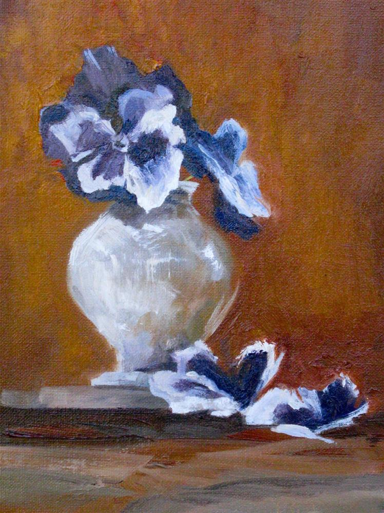 """Pansies in Southern Light"" original fine art by kay keyes farrar"