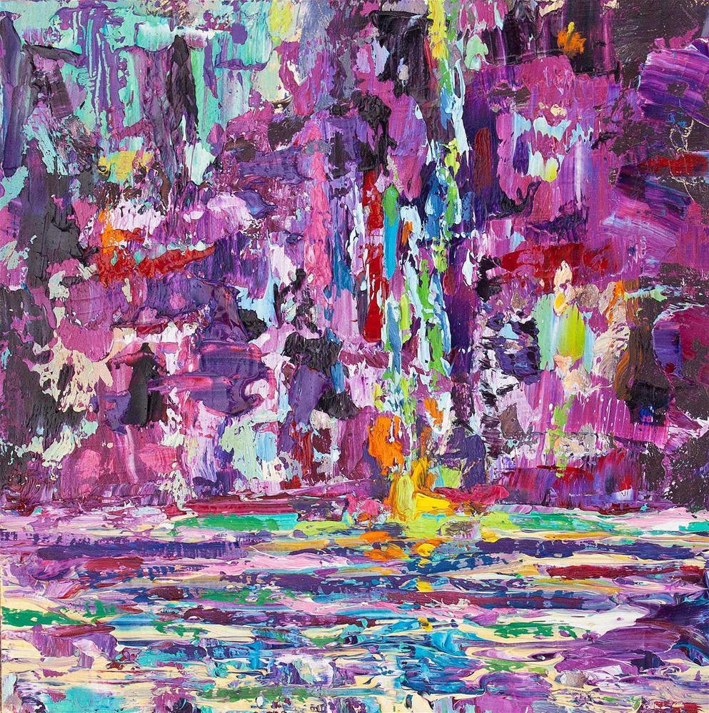 """""""Magenta Aqua Dream"""" original fine art by Cynthia Mahlberg"""