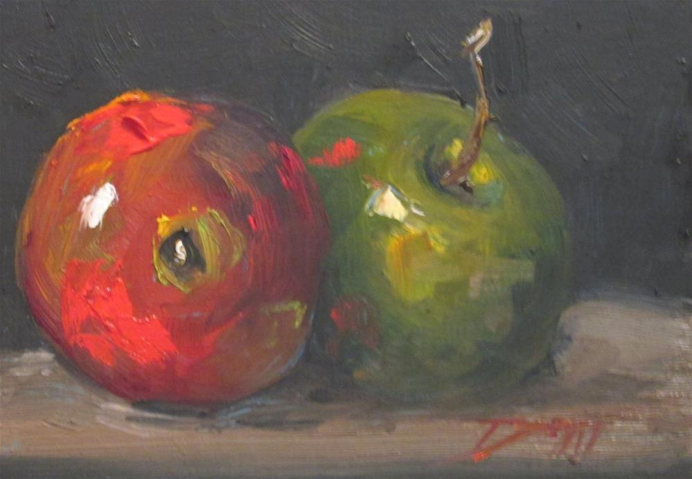 """100 Apples Series No.2"" original fine art by Delilah Smith"